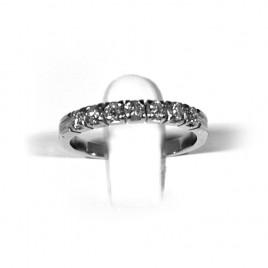 Anello in oro bianco con diamanti Gr 2.7 Art.209