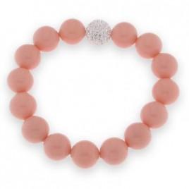 bracciale perle rosa e strass