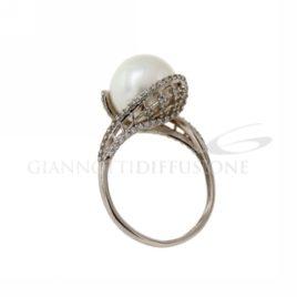 Anello con perla e zirconi cod.803321725010